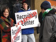 Opposing military recruiters on campus