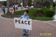 Peace vigil in Arlington Heights