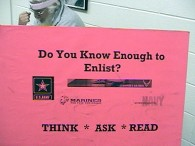 Do you know enough to enlist?